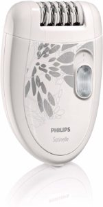 Philips Satinelle Epilator, White Gray